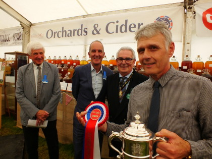 Gold Medal and Supreme Champion Cider at Bath & West Show